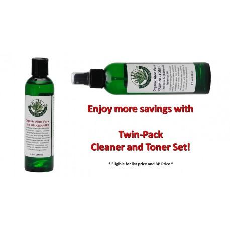 Twin Pack: FBH Aloe Vera Cleanser Gel + Calming Toner
